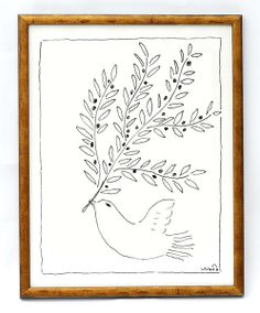 Olive Branch By Wayne Pate by PrintMaison on Etsy Artwork Prints, Poster Prints, Retro Typography, Bird Pictures, Silk Screen Printing, Antique Art, Art Decor, Art Drawings, Gallery Wall