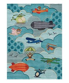 Lil Mo Whimsy Sky Rug by Momeni-Collection Description Momeni?s New Lil Mo Collection adds classic charm to children?s rugs. From retro robot Kids Area Rugs, Blue Area Rugs, Design Shop, Class Design, Retro Robot, 3d Max, Hand Tufted Rugs, Patch, Cool Rugs