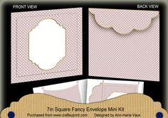DPink Dotty Fancy 7x7inch Easy Envelope Mini Kit on Craftsuprint - Add To Basket!