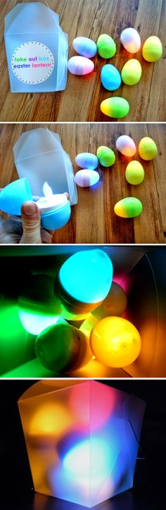 Easter is almost here! Love these DIY lanterns... would look great on a patio all lit up and colorful