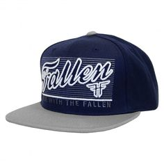 Fallen Lock Out snapback hat midnight blue cement grey casquette ajustable Rise With The Fallen 39€ #fallen #fallenskate #fallenfootwear #footwear #risewiththefallen #cap #hat #caps #hats #snapback #casquette #casquettes #skate #skateboard #skateboarding #streetshop #skateshop @PLAY Skateshop