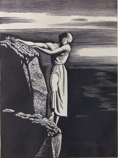 View Girl on Cliff Burne-Jones 57 by Rockwell Kent on artnet. Browse upcoming and past auction lots by Rockwell Kent. Rockwell Kent, Norman Rockwell, Moby Dick, Scratchboard, Wood Engraving, Woodblock Print, Printmaking, Amazing Art, Illustrators