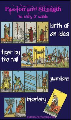 Tarot Card Meanings - the suit of wands