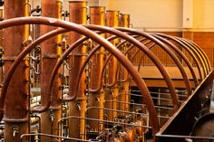 After the maceration, the distillation process can begin. The vapours, packed with essential oils, make their way through the swan's neck to the plate column, which in turn leads to the condenser. When they return to their liquid state, they produce a highly aromatic distillate or spirit: the heart of Cointreau, which epitomises the tradition and savoir-faire built up over many years of experience.