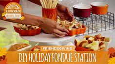DIY Holiday Fondue Station - HGTV Friendsgiving