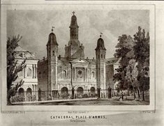 Cathedral, Place D'Armes, New Orleans 1848 St Louis Cathedral, New Orleans History, Historical Photos, Historical Fiction, Louisiana Purchase, Red Light District, Barcelona Cathedral, Taj Mahal, 19th Century