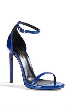 Saint Laurent 'Jane' Ankle Strap Leather Sandal available at #Nordstrom