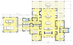 Farmhouse Style House Plan - 3 Beds 2.50 Baths 3754 Sq/Ft Plan #888-1 Floor Plan - Main Floor Plan - Houseplans.com