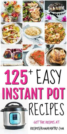 This is the ULTIMATE Easy Instant Pot Recipes roundup. If you love your Instant Pot or you're new to the Instant Pot, you need this post! I've rounded up over 125 of the BEST easy Instant Pot recipes in every category. Best Instant Pot Recipe, Instant Pot Dinner Recipes, Easy Dinner Recipes, Appetizer Recipes, Easy Meals, Instant Recipes, Cheap Meals, Crockpot Recipes, Chicken Recipes