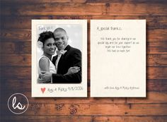 Rustic Wedding Thank you Cards ~ Wedding Thank you Cards Photo ~ Vintage Wedding ~ Printed Invitations ~ DIY PRINTABLE