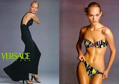 Amber Valletta for Versace Ad 1996