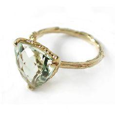 Green Amethyst Forest Jewel Ring by Alex Monroe