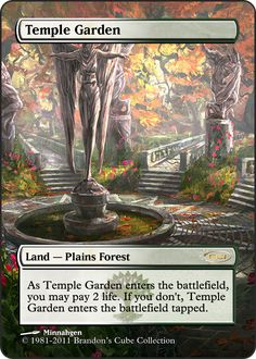 Magic The Gathering Temple Garden Proxy