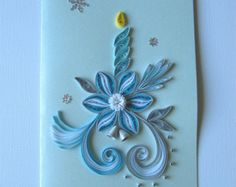Quilling Christmas Candle