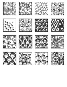 ZENTANGLE PATTERNS scales | Flickr - Photo Sharing!