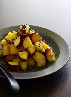 さつま芋の蜂蜜バター煮, satsuma imo no hachimitsu butter ni, sweet potatoes with honey and butter