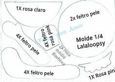 Boneca Lalaloopsy com molde