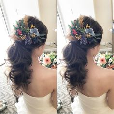 本当に可愛いポニーテールのブライダルアレンジまとめ   marry[マリー] Headdress, Bridal Hair, Wedding Hairstyles, Hair Color, Hair Beauty, Wedding Ideas, Dresses, Instagram, Beach