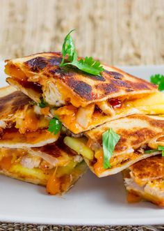 BBQ Chicken and Mango Quesadillas | 18 Mouthwatering Ways To Eat Mango This Summer