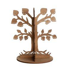 Il portagioielli di Jauku e' realizzato in legno naturale ed ecologico. E' un ottimo Jewelery Organizer dispone di 12 rami con foglie artigianale, 102 piccoli fori e 12 sticks. L'albero porta gioielli puo' ospitare fino a 52 coppie di orecchini, piu' di 12 anelli e altri accessori. Jauku ha unito design ed estetica alla funzionalita' dell'oggetto.