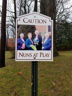 Fun sign at Little Flower   Church parking lot in Bethesda