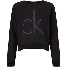 Calvin Klein Juisa Logo Sweatshirt , Meteorite ($115) ❤ liked on Polyvore featuring tops, hoodies, sweatshirts, meteorite, logo sweatshirts, calvin klein, logo tops, calvin klein sweatshirt and long sleeve tops