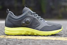 Reebok Air Out Pump Side: Grey & Yellow