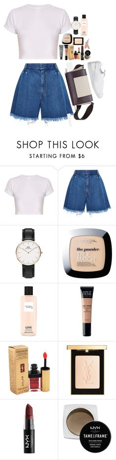 """""""Untitled #4869"""" by veronicaptr ❤ liked on Polyvore featuring Ksenia Schnaider, Daniel Wellington, L'Oréal Paris, Victoria's Secret, MAKE UP FOR EVER, Yves Saint Laurent, NYX and adidas"""