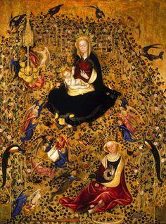 Michelino da Besozzo o Stefano di Giovanni, Madonna del roseto (Madonna col Bambino e Santa Caterina) (1420). Verona, Civici Musei d'Arte - Museo di Castelvecchio