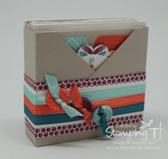 Stamping T! - Patterned Occasions Note Card Criss-Cross Box