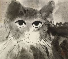 Cat by Walasse Ting (American/Chinese, 1929–2010)
