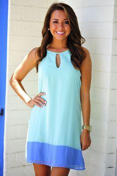 Cute casual mint summer mini dress