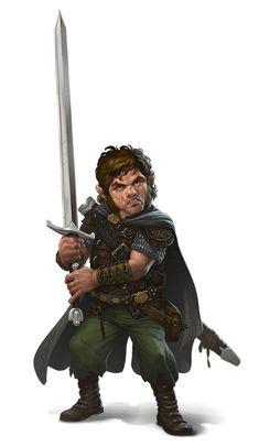Male Halfling Greatsword Fighter - Pathfinder PFRPG DND D&D 3.5 5E 5th ed d20 fantasy