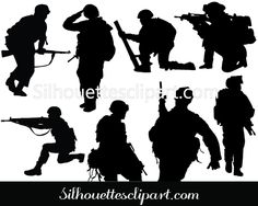 Soldier Vector Graphics Download Soldier Silhouette