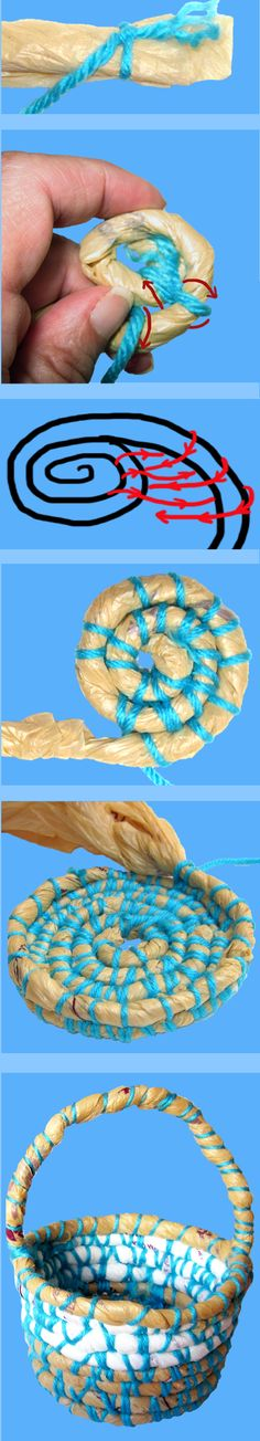 how to make baskets from recycled plastic bags | How To Make A Basket Out Of Recycled Plastic Bags - Mt Jibbaroo ...