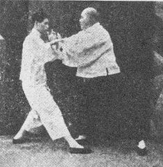 Yang style Tai chi - Archives :Yang Sau Chung with his father Yang Chen Fu