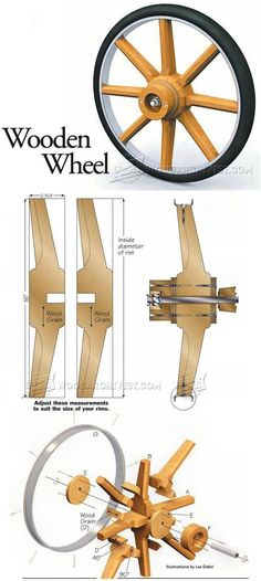 Making Wooden Wheel Woodworking Plans and Projects WoodArchivistcom woodworkingplans Woodworking Projects Diy, Diy Wood Projects, Teds Woodworking, Wood Crafts, Diy And Crafts, Projects To Try, Wooden Wheel, Wagon Wheel, Wood Toys