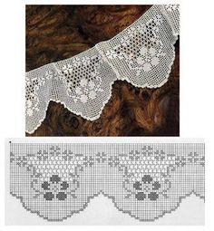 Lace Edging Crochet Patterns - Beautiful Crochet Patterns and Knitting Patterns Crochet Lace Edging, Crochet Borders, Crochet Art, Vintage Crochet, Crochet Doilies, Crochet Edgings, Filet Crochet Charts, Crochet Diagram, Crochet Stitches