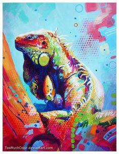 Iguana by TooMuchColor.deviantart.com on @DeviantArt