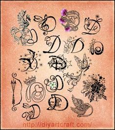 #stencil #disegni #D #iniziali