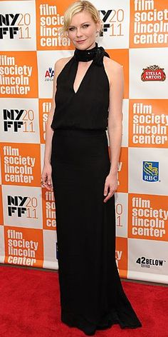 """One of the many movies being screened at the annual cinema showcase, the stars were out for the premiere of """"Melancholia"""" at the 2011 New York Film Festival on Monday night (October 3)The 29-year-old actress wore a Chloe dress and Sonia Rykiel shoes for the event."""