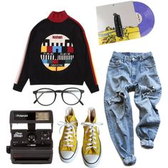 A fashion look from August 2017 featuring Levi's pants, Converse sneakers and RetroSuperFuture eyeglasses. Browse and shop related looks.