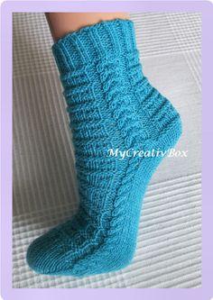 """Socken """"Feeling"""" für Gr. 32-47, Anleitung von MyCreativBox, gestrickt mit Sockenwolle 4-fach"""