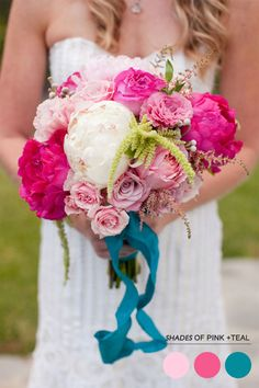 Love the flower combo and ribbon bow