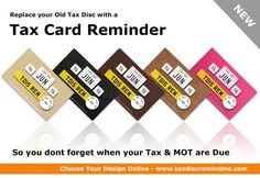 New Road Tax Reminder Card. Put it in your Wallet. Buy Online Today! http://www.taxdiscremindme.com/product-category/card/… #roadtax #new #design