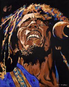 Bob Marley by John Wilsher. Massive range of art prints. Bob Marley Legend, Bob Marley Art, Reggae Bob Marley, Art Rasta, Rasta Wedding, Reggae Art, Bob Marley Pictures, Wolf Spirit Animal, Nesta Marley