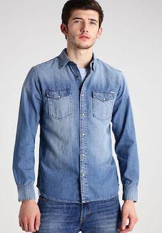 JJVSHERIDAN SLIM FIT - Casual overhemd - medium blue denim