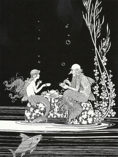 The Merman's Glass House, illustration by Ida Rentoul Outhwaite (1888–1960) for The Little Fairy Sister, written with her husband Grenbry Outhwaite. Published by A. & C. Black Ltd, 1923