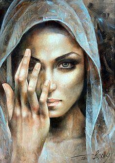 Painting - Peregrinus by Arthur Braginsky Renaissance Kunst, Photographie Portrait Inspiration, Sunflower Art, Pencil Art Drawings, Tree Art, Portrait Art, Beautiful Paintings, Oil Painting On Canvas, Female Art