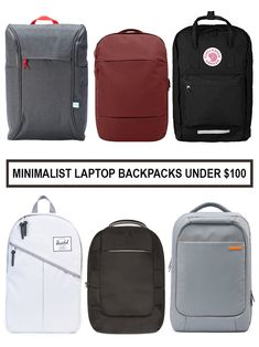 Top Picks for Minimalist Laptop Backpacks under $100 | Find out which backpacks made the list at http://www.minimalistguy.net/home/minimalist-mens-backpacks-under-100